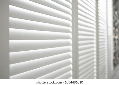 White Wooden shutters, White Wooden blind.
