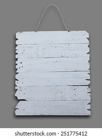 white wooden signboard