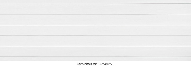 White wooden texture background. Copy space, text place. Backdrop. Wood finish material shop. Natural banner. Grey painted plank timber. Wall lining. Rustic mockup. Indoor interior. Horizontal lines.