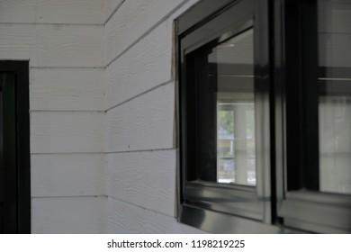 White wooden wall and window
