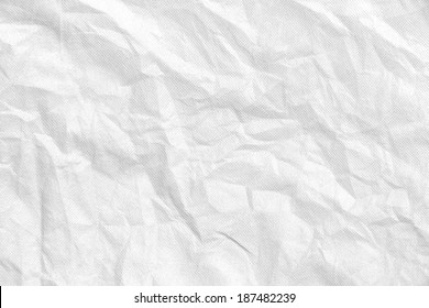 white wrinkled fabric