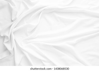 white wrinkled fabric texture background