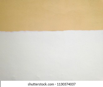 White and yellow colored wall