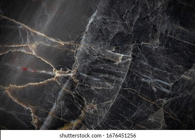 White and yellow patterned natural detailed of dark gray marble (Russia Gold) texture background for product design