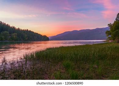 Whitefish Lake. Flathead County. Montana. USA