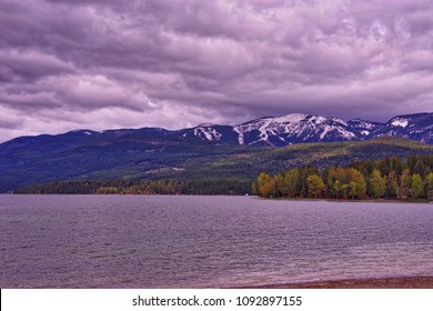 Whitefish Lake Montana Rocky Mountains