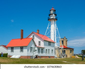 Whitefish Point Light, Michigan (1861), associated with the loss of the SS Edmund Fitzgerald with 29 souls in 1975 in sight of this light
