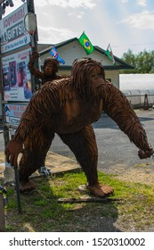 Whitehall, NY-USA; 9/28/19: Annual Sasquatch Calling Festival in an Adirondak town where the legendary creature was supposedly sighted.