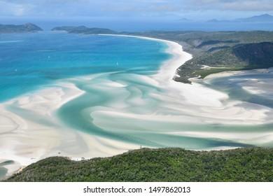 Whitehaven Beach aerial view Australia
