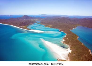 Whitehaven Beach aerial view Whitsundays