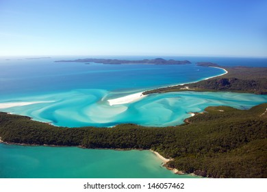 Whitehaven Beach aerial Whitsunday Islands