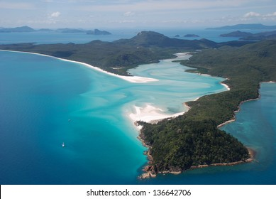 Whitehaven Beach and Hill Inlet, Whitsunday Islands, Australia