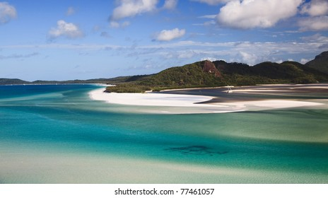 Whitehaven beach lagoon at national park queensland australia tropical coral sea world heritage