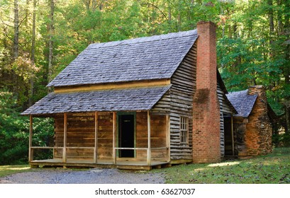The Whitehead Place cabin in Cades Cove, Great Smoky Mountains National Park