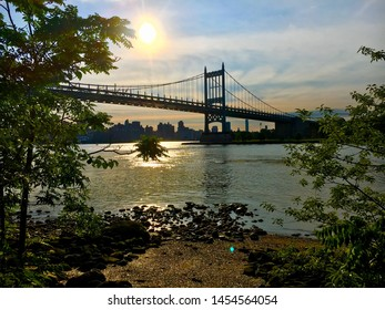 Whitestone bridge as seen from Astoria Park in Astoria NYC