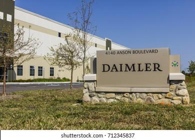 Whitestown - Circa September 2017: Daimler Trucks North America Distribution Center. Daimler Trucks is formerly Freightliner Corporation and owned by Daimler AG I
