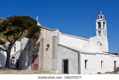 A Whitewashed Church in the Greek Islands