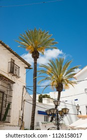 Whitewashed facades in Marbella old town