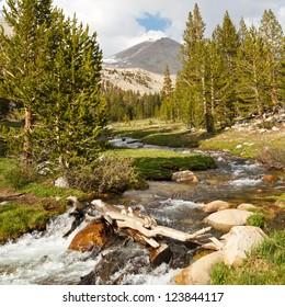 Whitney Creek - Beautiful alpine stream west of Mount Whitney, Sierra Nevada, California, USA