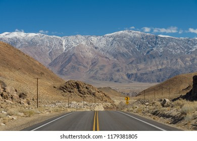 Whitney Portal Road from Lone Pine towards the Alabama Hills.
