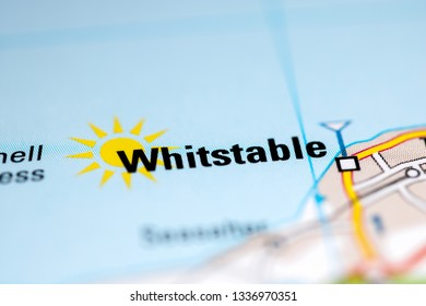 Whitstable. United Kingdom on a geography map