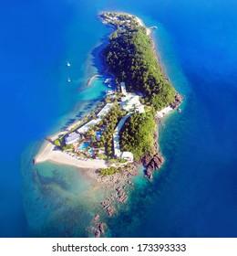 A Whitsunday island aerial in Australia