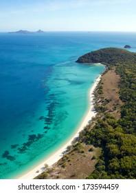 Whitsunday Island aerial view Australia