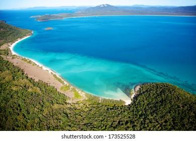 Whitsundays aerial landscape view in Queensland Australia
