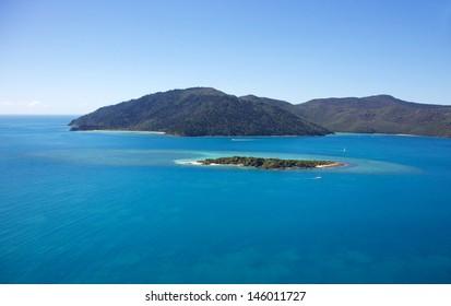Whitsundays Landscape Aerial of Island