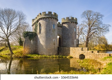 Whittington castle in northern Shropshire England was originally a Norman motte and bailey castle on the Welsh Marches dating back to 1138
