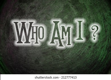 Who Am I Concept text