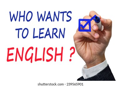 Who whants to learn english ?