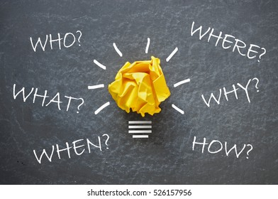 Who, what, when, where, how and why questions
