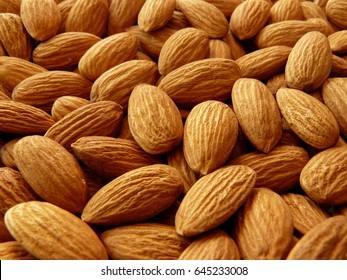 whole almond shallow dof background