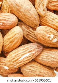 Whole almonds background.