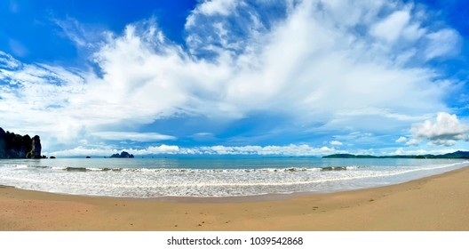 The whole Ao Nang bay in the morning, Krabi province, Thailand