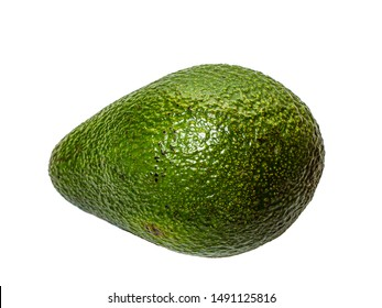 Whole avocado on an isolated background.