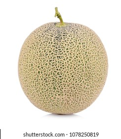 a whole of cantaloupe melon fruits isolated on white background.