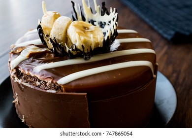 Whole Chocolate Cake with Banana