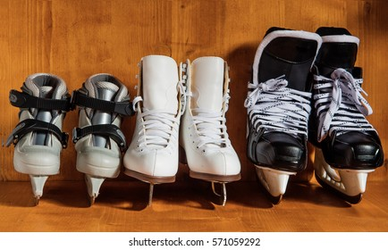 The whole family loves to skate and skate on a Sunday prepared to go to the ice rink