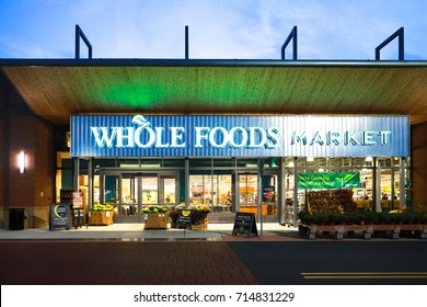 Whole Foods at night in Allentown, PA, USA. September 12, 2017