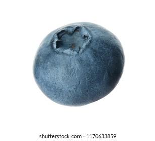 Whole fresh tasty blueberry on white background