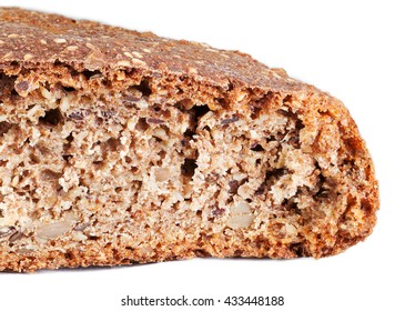 Whole grain bread isolated on white with clipping path