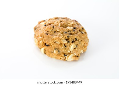 whole grain cookies isolated on white background.