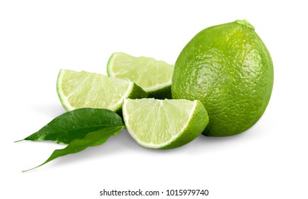 whole and half with slice lime