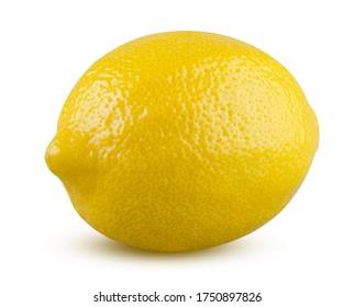 Whole lemon isolated on white background