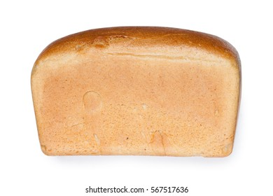 Whole loaf of bread isolated on white background