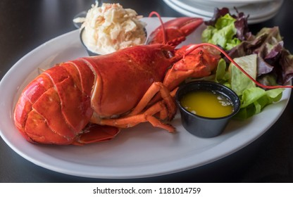 Whole Lobster Meal Served in a Restaurant in Prince Edward Island Canada