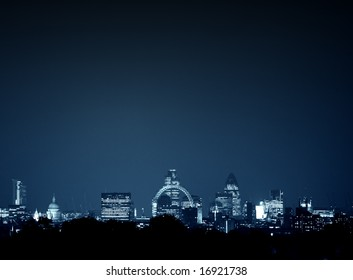 Whole of london cityscape