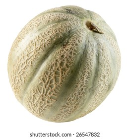 Whole musk melon, isolated